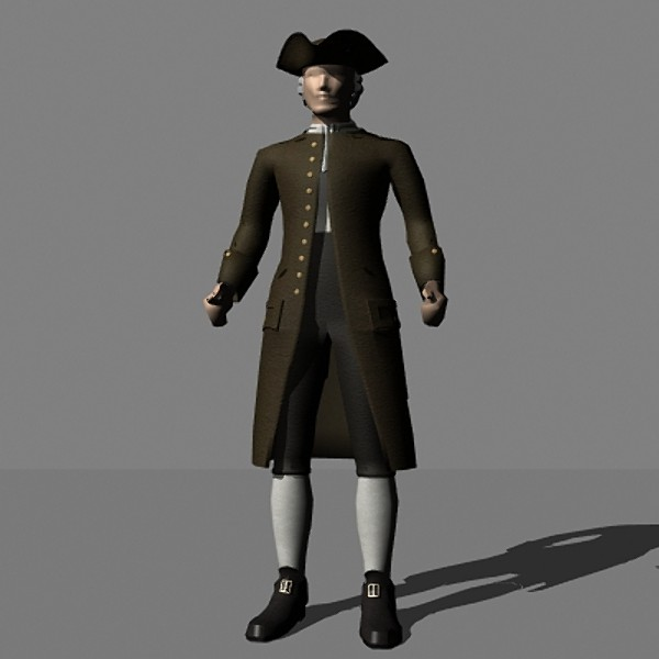 Colonial Dress 3D Models