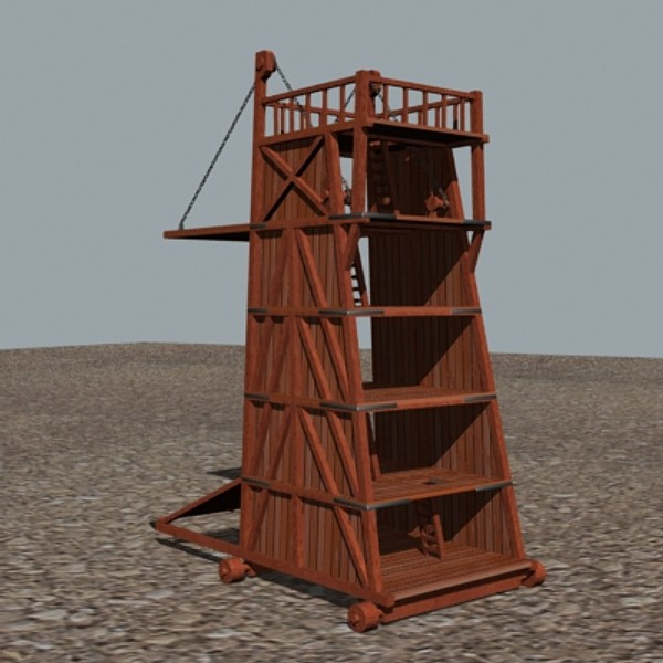 3d belfry castle siege - Belfry... by mostlysquare