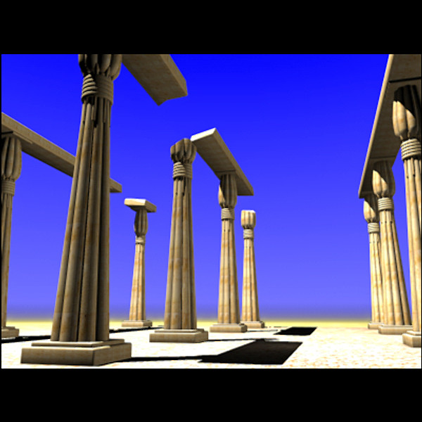 ancient desert ruins 3d model - Desert ruins... by Petersim