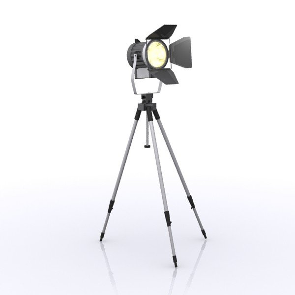 standing light spot 3d model - Standing Light Spot... by sweiry_tv