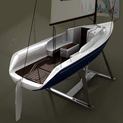 yacht columbia 3d model - Yacht Columbia Sail... by Leeift