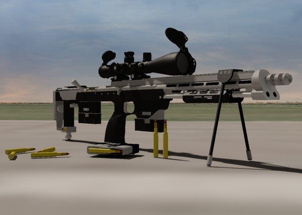 3d dsr-1 sniper rifle leupold - DSR-1 Sniper Rifle with Leupold Mark 4 & Yukon NV Scope... by Imagetek3D