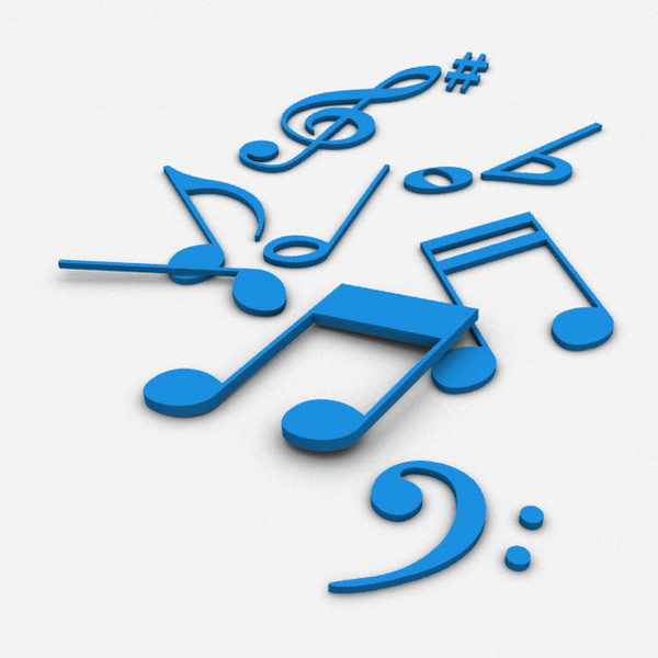 music notes 3d model - Music Notes 3D... by sweiry_tv
