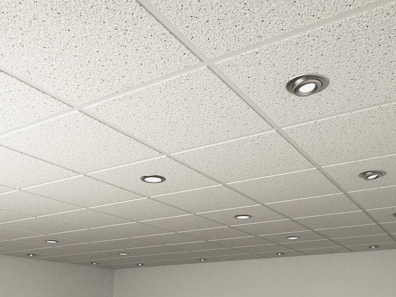 3d model realistic ceiling tiles spot