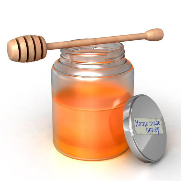 honey jar stirrer 3d model - Honey Jar and Stirrer... by sweiry_tv