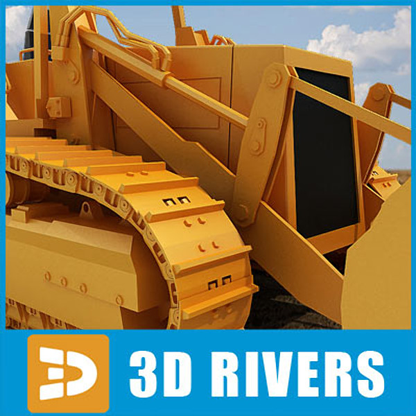 track loader industrial vehicles max - Track loader 03 by 3DRivers... by 3DRivers
