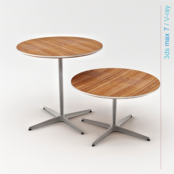 arne jacobsen tables base max - circular table 4 star pedestal base ( 2 tables )... by Lajhar