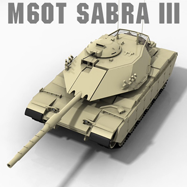 fbx m60t sabra iii main - M60T Sabra III Main Battle Tank... by PROTOCG