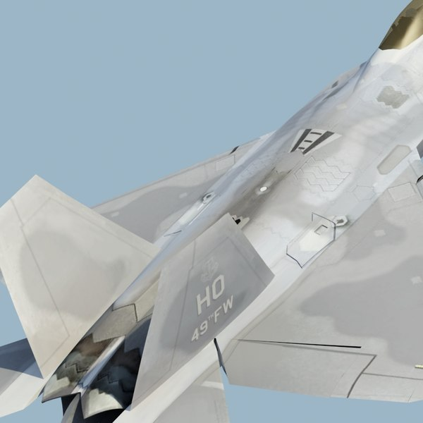 3ds f22a raptor f-22 fighter - F22A Raptor 3DModel... by ES3DStudios