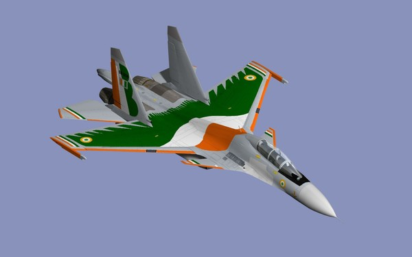 3dsmax su-30mki iaf russian - SU-30MKI... by mach 3 graphics