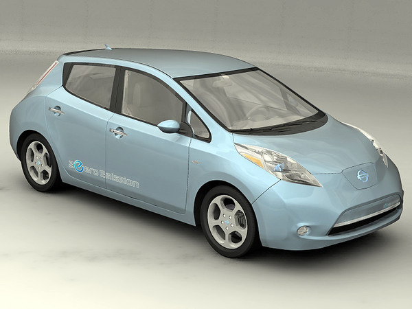 nissan leaf 3d model - 2011 Nissan Leaf... by 3dKen