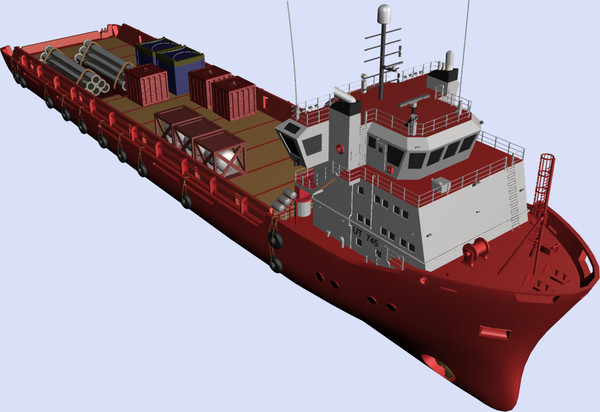 platform supply vessel ut745 3d model - Platform Supply Vessel UT745.zip... by TMG CG Art