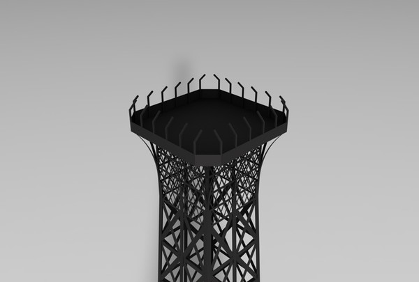 c4d eiffel tower - Eiffel Tower Model... by MattTrout