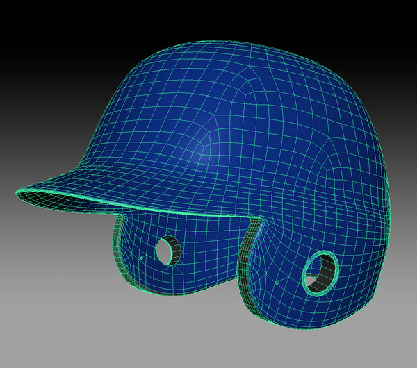 baseball batting helmet 3d model - Batting Helmet... by kenbishop