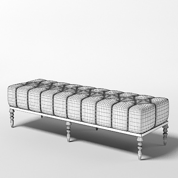 ipe cavalli ottoman 3d model - ipe cavalli ottoman chaise bench... by shop3ds