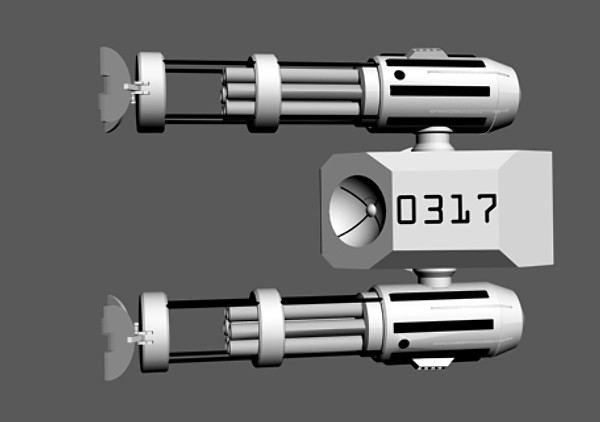 futuristic space cannon 3d model - Space Cannon Orbital Weapons Platform... by Imagetek3D