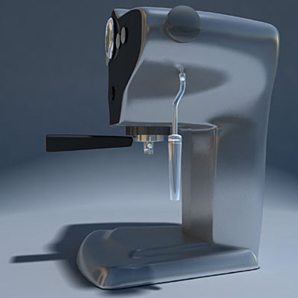 espresso machine obj - Espresso Machine_obj... by TMG CG Art