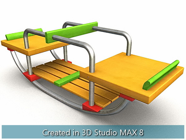 wooden toys cradle house 3d max - Wooden Toys... by I_Megaman_I