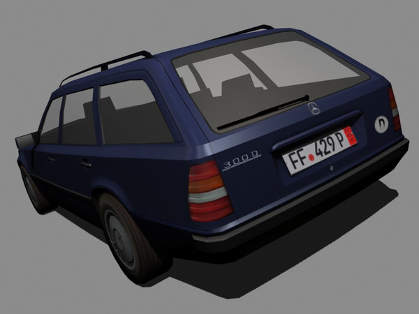 w124 touring 300d 3d 3ds - Mercedes W124 300D Touring... by machin3d