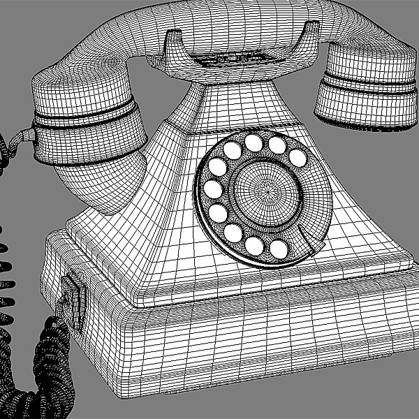 max retro telephone - Retro Telephone... by RomanPritulyak