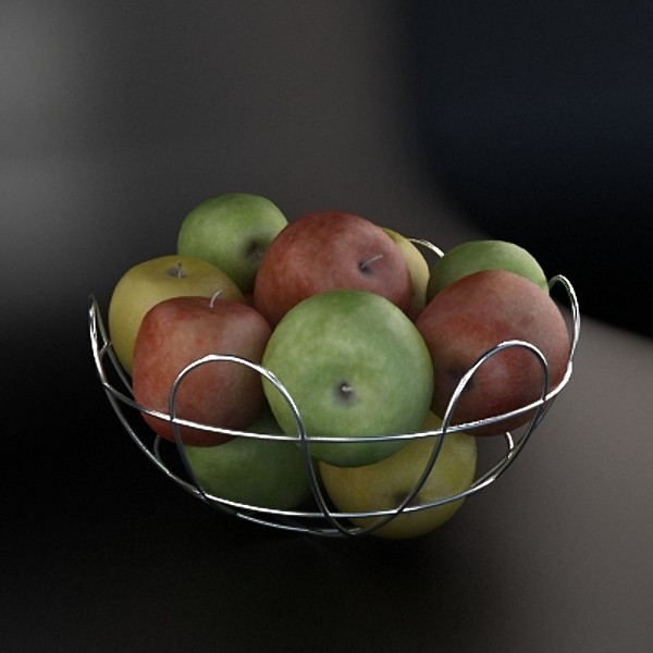 3d apples basket model - Basket apple... by MilosJakubec