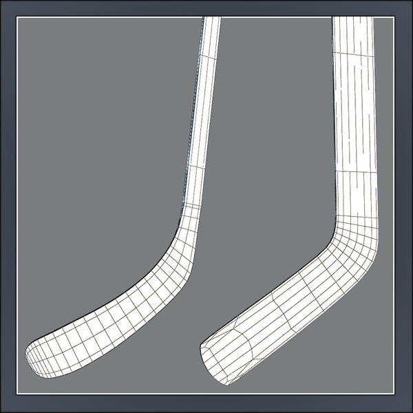 ice hockey sticks 3d model - Ice Hockey Sticks... by Tornado Studio