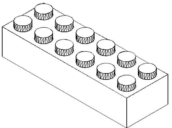 lego bricks coloring page - 600×448