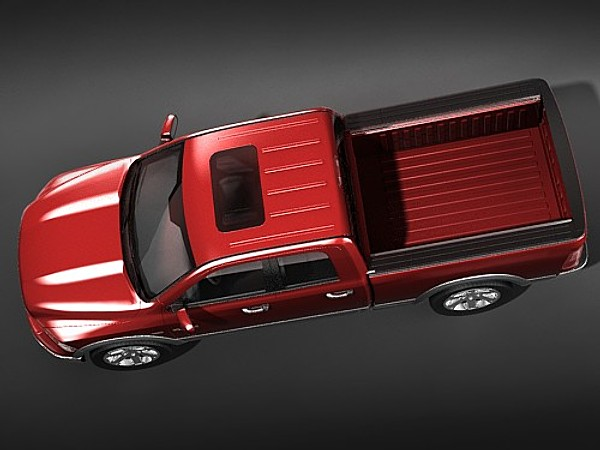 dodge ram 2009 crew 3d model - dodge ram 2009 crew cab hipoly... by squir