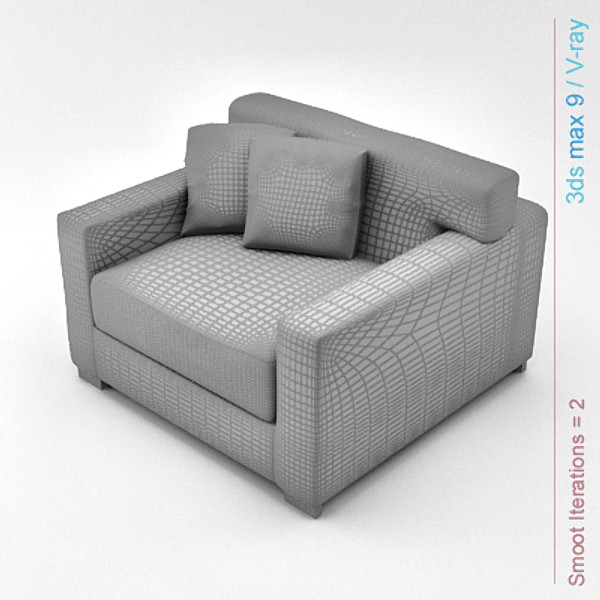 3ds max modern architectural - chair 01... by Lajhar