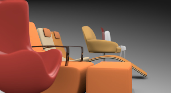 3d model pack 7 chairs - 7 modern chairs pack... by TotexArtz